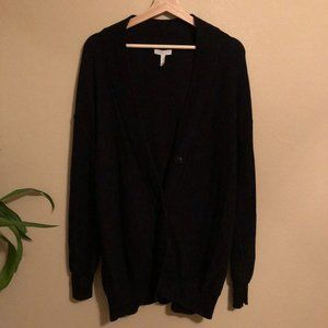 Leith 90s Oversized Black Cardigan L